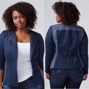 NEW LANE BRYANT Blue Jean Denim Quilted Jacket